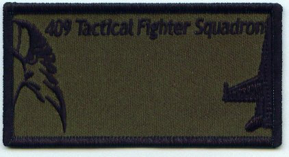 409 Squadron Name Patch