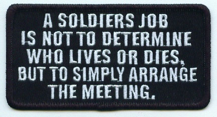 A Soldier's Job