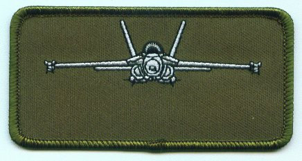 Front Facing Hornet Name Patch