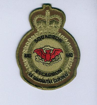 440 Heraldic Crest red bat