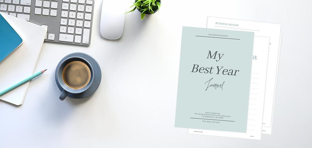 """Planer """"MY BEST YEAR Journal"""" für mehr Klarheit und Fokus"""