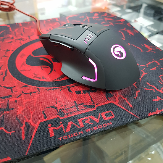 Marvo G909 Wired Optical Gaming 7D Mouse + G1 Mouse Pad combo