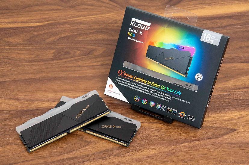 KLEVV Cras X RGB 16GB ( 8X2 ) DDR4-3600 Gaming Memory