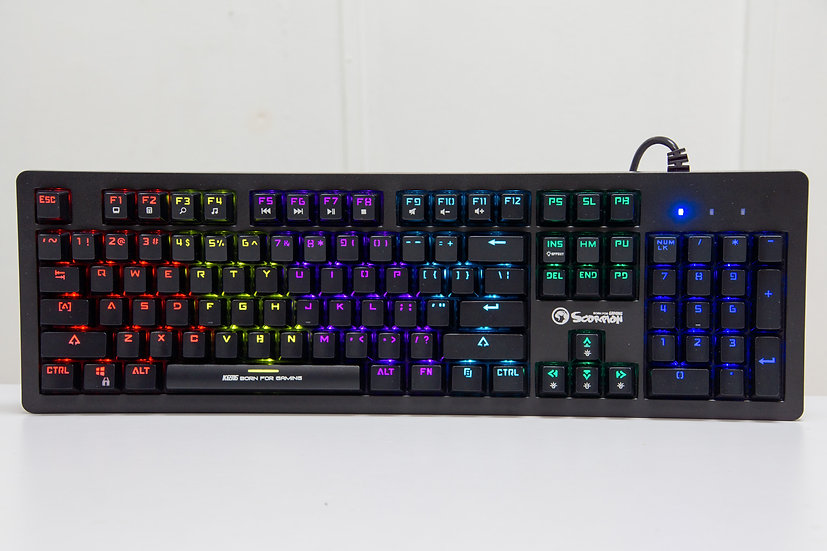 Marvo Scorpion KG916 RGB Backlight Mechanical Keyboard - Blue Switch