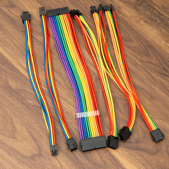 1st Player SteamPunk Rainbow Mod Sleeve Extension Cable Kit With Acrylic Comb