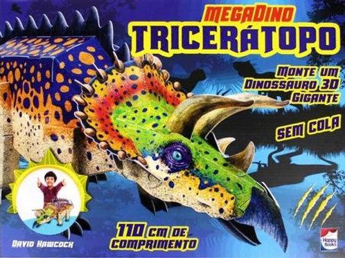 Megadino tricerátopo - monte um dinossauro 3d gigante
