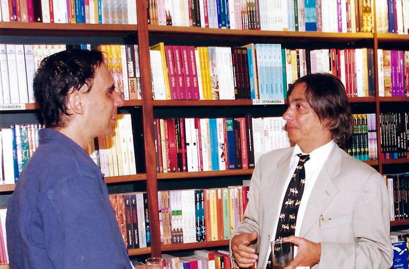 """Arnaldo Antunes e Tunga no lançamento do livro """"Imagem Escrita"""""""
