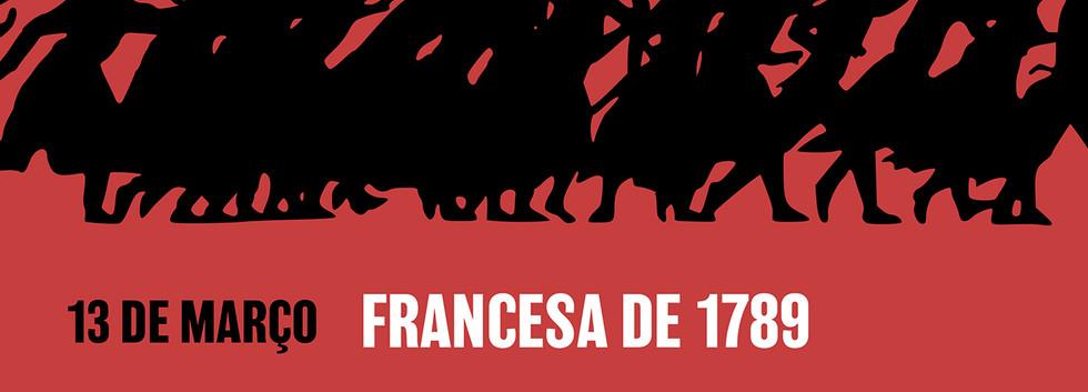 """Cartaz curso """"Grandes Revoluções"""" com Francisco Vieira"""