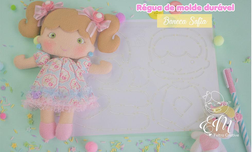 Régua de moldes duráveis boneca Sofia
