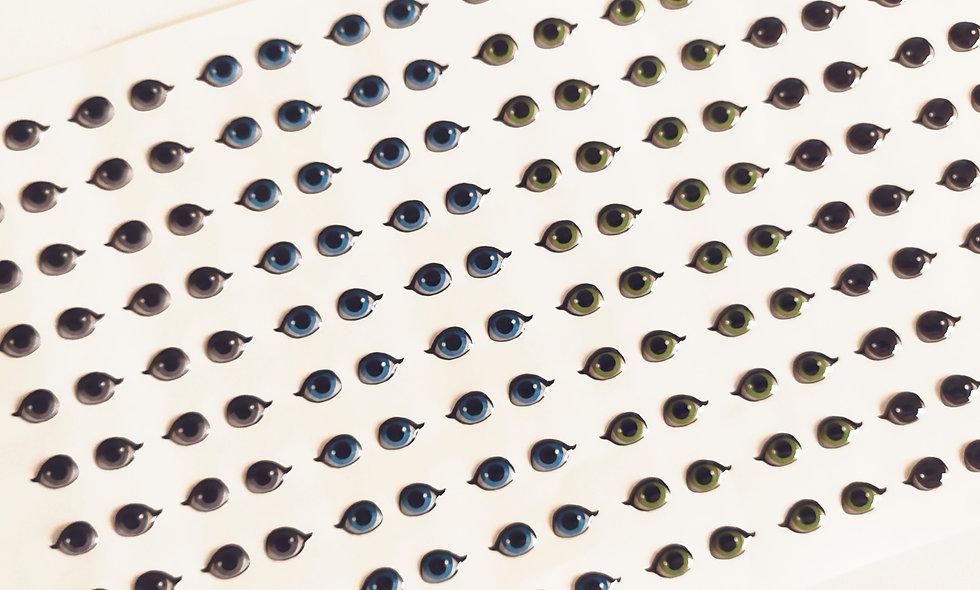 Olhos resinados 482 - tamanho P.