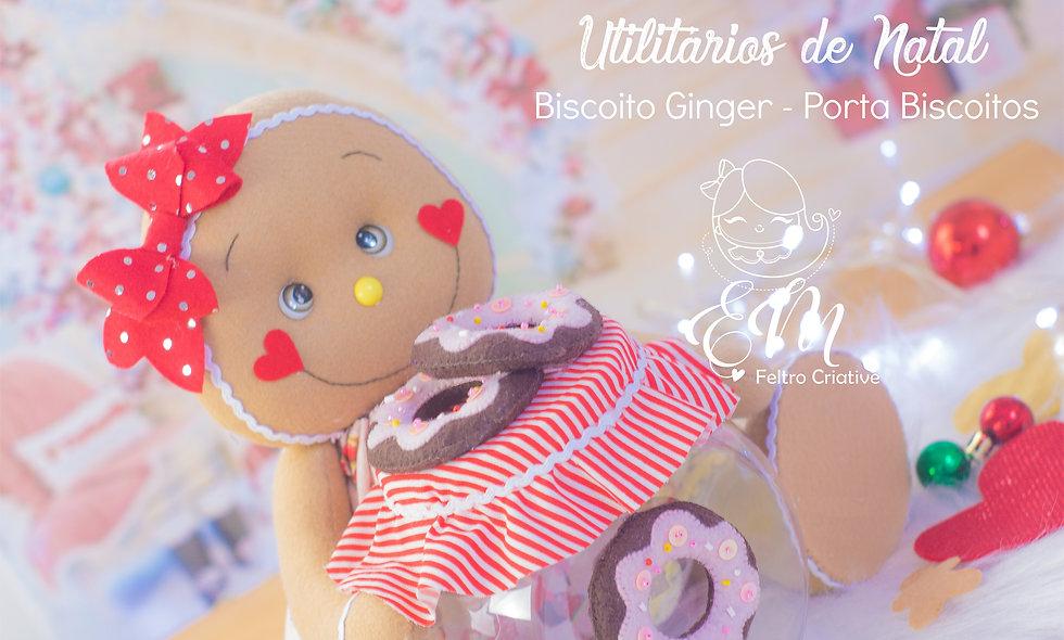 Utilitários de Natal Ginger porta Biscoito
