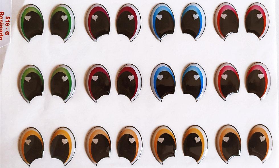 Olhos resinados  Ursinhos Carinhosos - Tamanho G.
