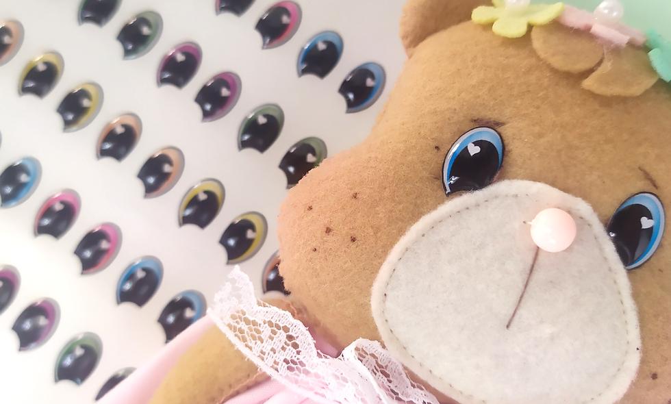 Olhos resinados  Ursinhos Carinhosos - Tamanho P.