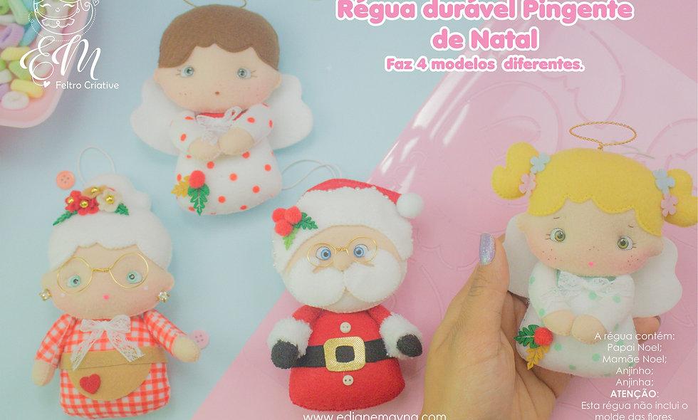 Régua de molde durável-  Coleção Pingente de Natal - Edição Limitada