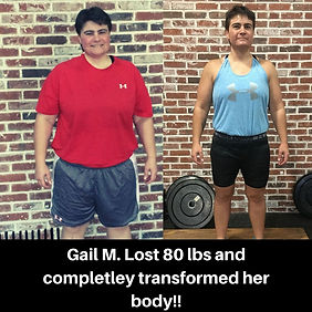 Gail M. Lost 80 lbs and completley trans