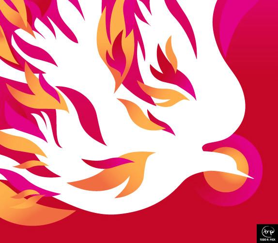 Pentecost banner: Todd Pick, 2009.