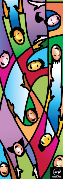 Kingdom of God banner: Todd Pick, 2005.