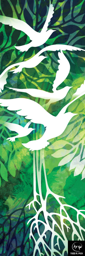 Roots and Wings banner: Todd Pick, 2016.