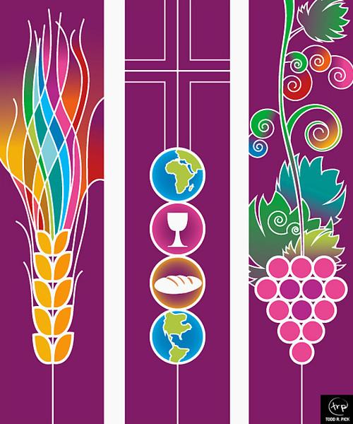 World Communion banners: Todd Pick, 2004.