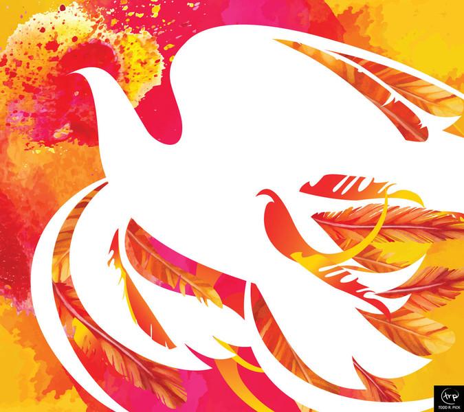 Pentecost banner: Todd Pick, 2015.