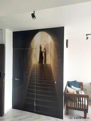 Customised bombshelter door/wall mural