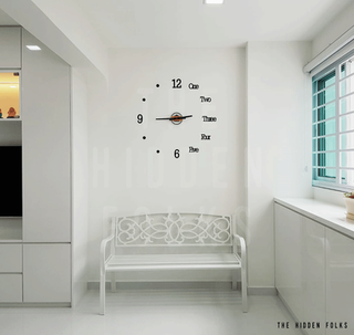 Customised acrylic clock