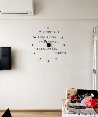 Customised clock