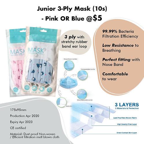 CARE Bundle - 3-Ply Junior Mask (10pcs)