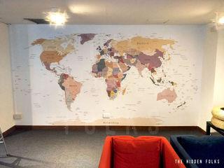 Customised World Map sticker for full wall