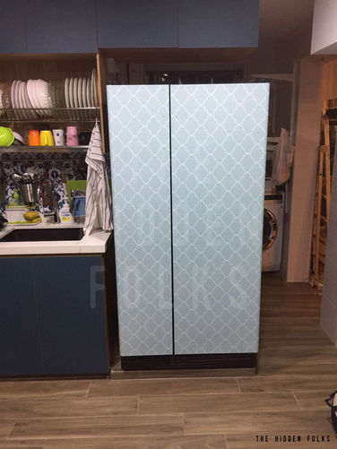Customised fridge skin