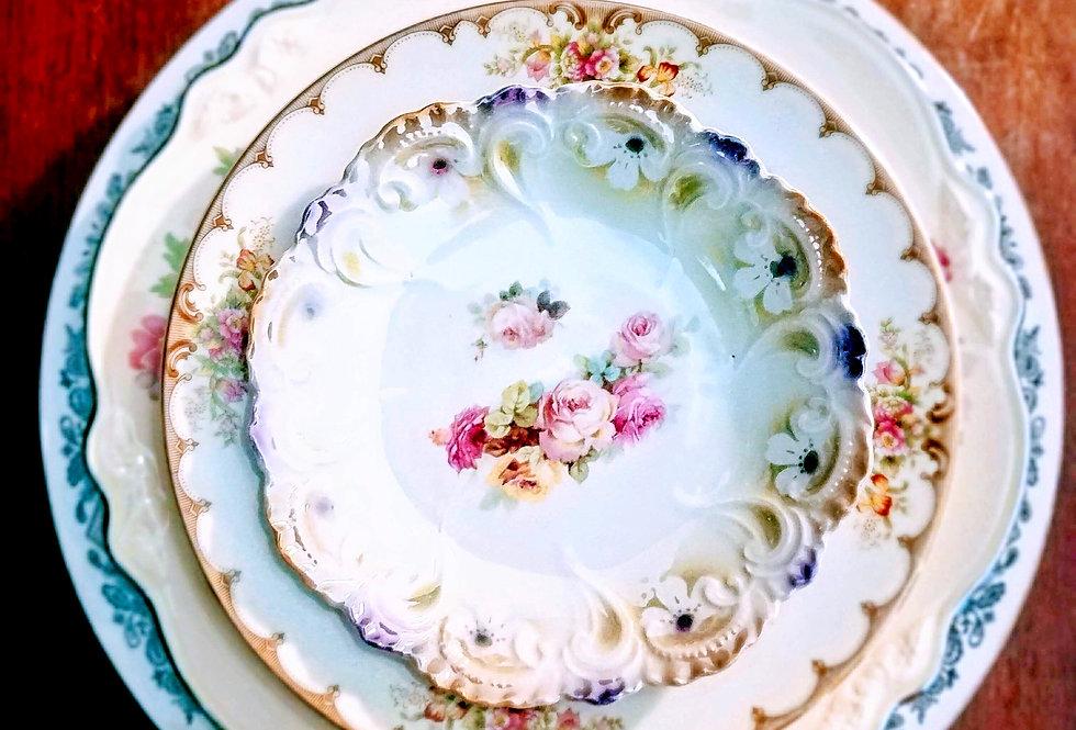 Large Mismatched China Plates