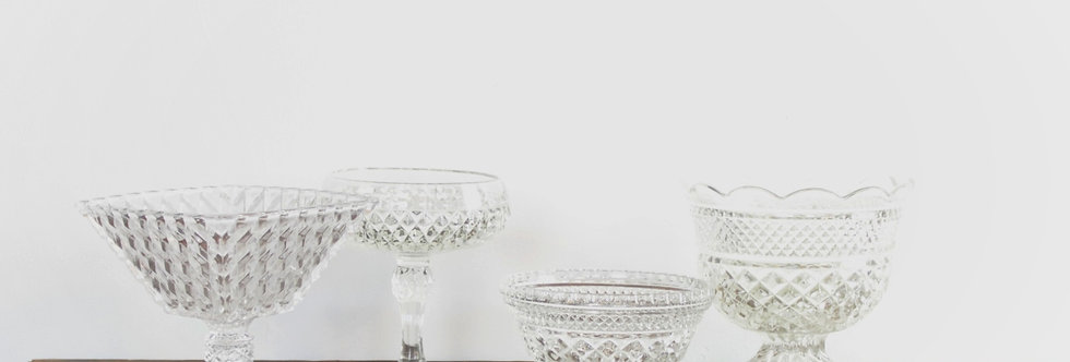 Assorted Clear Dishes