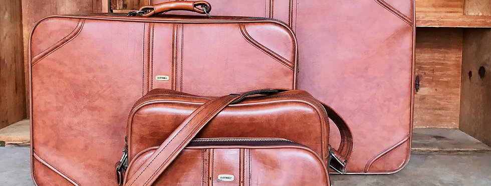 Brown Vintage Suitcases