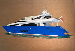 Here is my latest painting of SUPERYACHT