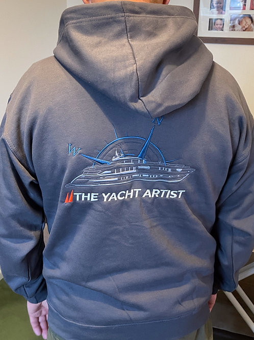 "'The Yacht Artist"" basic Hooded Sweatshirt"