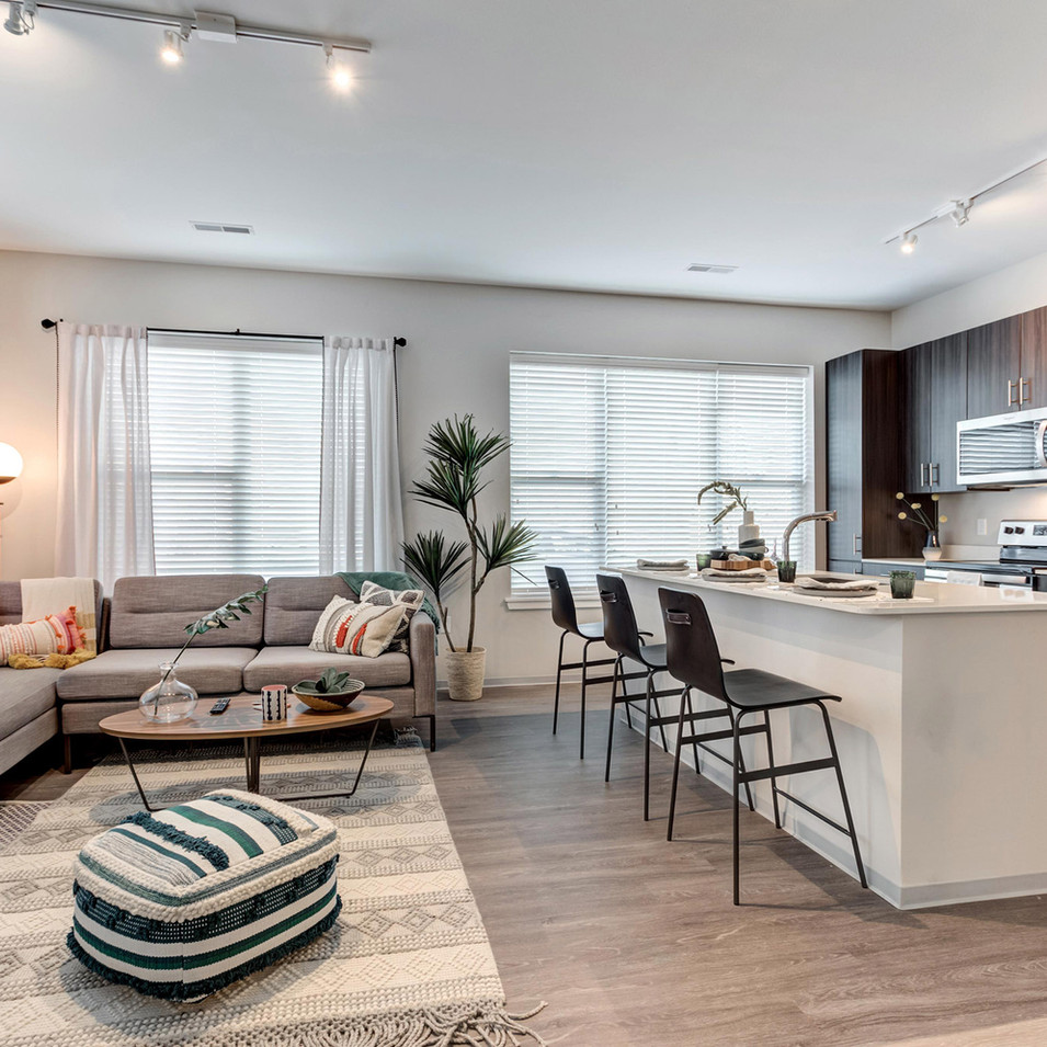 Model Unit Living Room and Kitchen | Kuchar