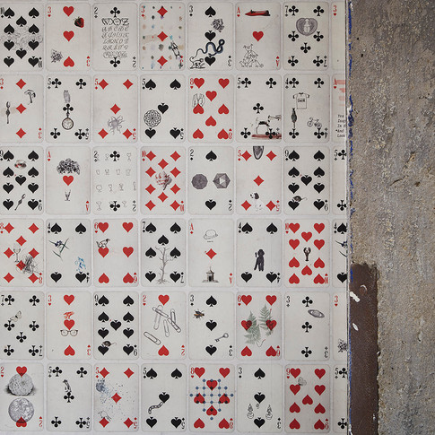 Patterned Wallcovering and Exposed Concrete in Financial Firm  | Kuchar