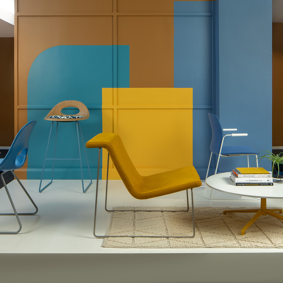 Bright Blue and Yellow for Source International Seating | Kuchar