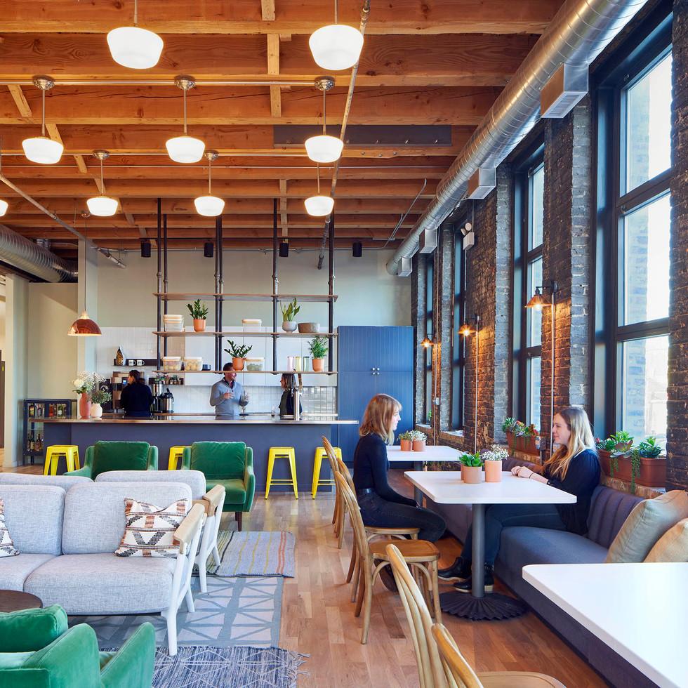 Bright, Homey Employee Lounge for Farmer's Fridge | Kuchar