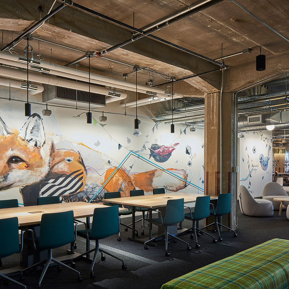 Fun, Graphic Mural in Confidential Chicago Financial Firm | Kuchar
