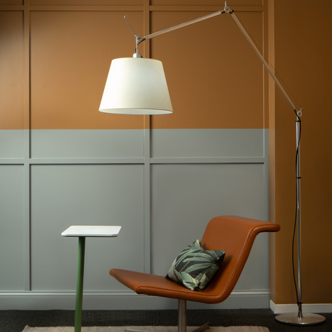 Lounge Display with Arc Lamp for Source International Seating | Kuchar