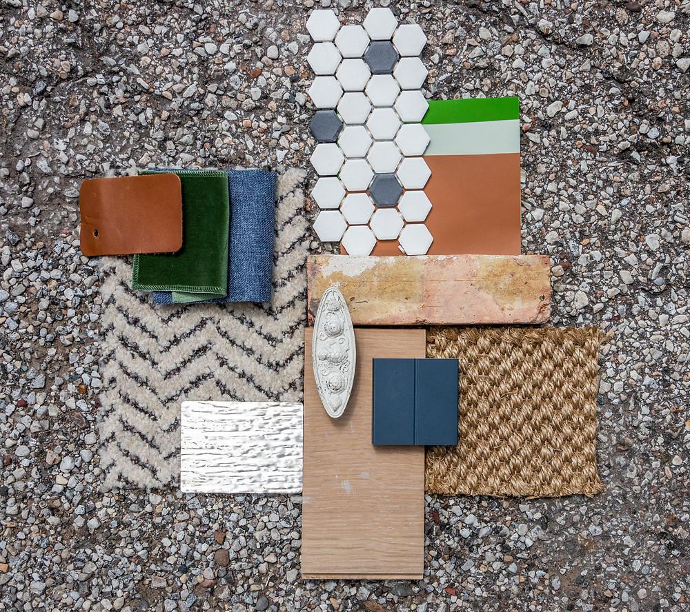 Material palette for Farmer's Fridge startup office in Near West Side, Chicago | Kuchar