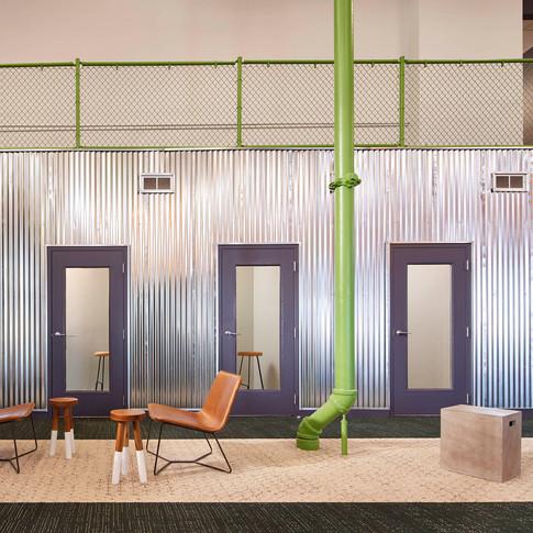 Industrial Materials in Farmer's Fridge Start-Up Office | Kuchar
