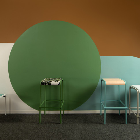 Bright Colorblock Design Display for Source International Seating | Kuchar