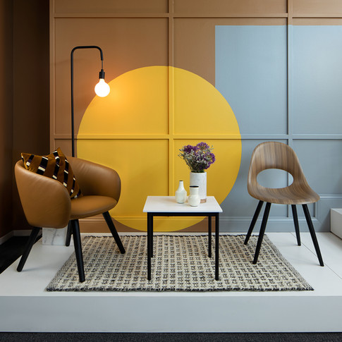 Colorblock Paint Furniture Display for Source International Seating  | Kuchar