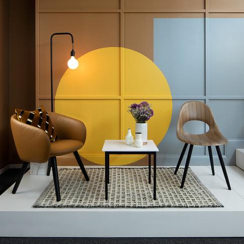 Colorblock Paint Furniture Display for Source International Seating  | Kuchar