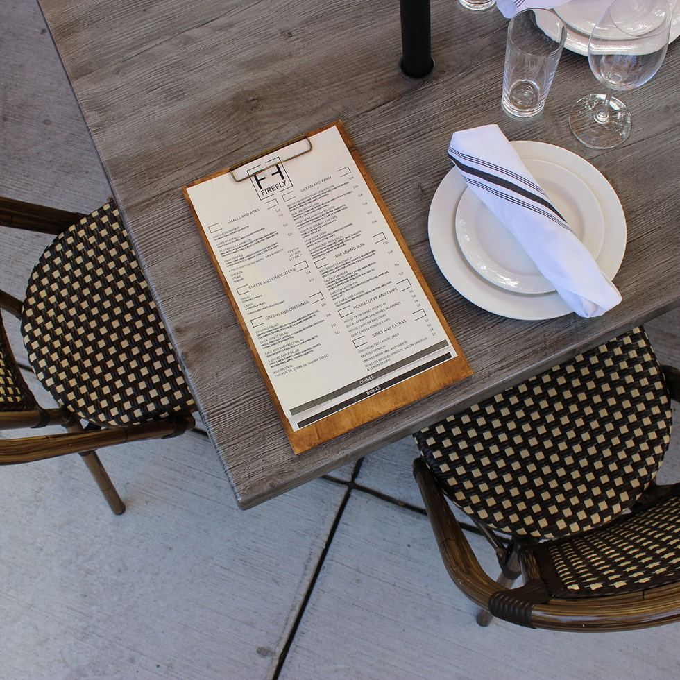 Outdoor Dining for Firefly Kitchen | Kuchar