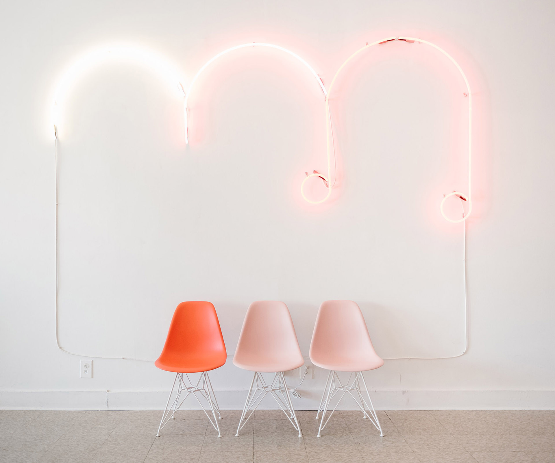 Soft Custom Pink Neon Music Note Cloud for Red Cloud Studio | Kuchar