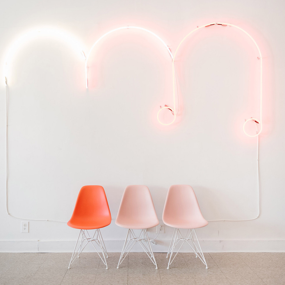 Soft Custom Pink Neon Music Note Cloud for Red Cloud Studio | Kuchar