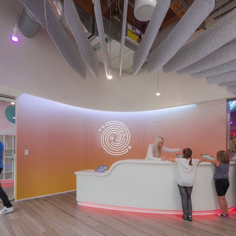 Neon Entry and Open Ceiling for Codeverse  | Kuchar